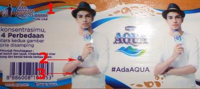 Tes Konsentrasi dan Fokus Anda, Temukan 4 Perbedaan Gambar pada Kemasan Aqua