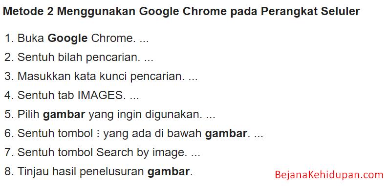 cara mencari di google menggunakan gambar