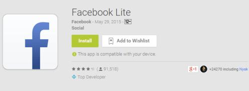 Manjakan Pengguna Android, Facebook Resmi Luncurkan Aplikasi Facebook Lite di Indonesia